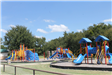 Playground equipment at Pecan Creek Park