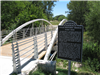 Texas Historic Bridge sign at Bulman Bridge